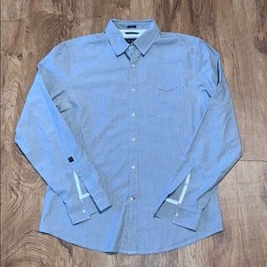 Guess Slim Fit Button-Down Gray Size Medium